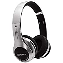 Avika Oppo A37f Compatible B20 Wireless/Bluetooth Headphone with FM and SD Card Slot/with Music and Calling Controls (Silver) by Avika