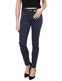 Onado Femme Jeans Slim Pantalon Denim Stretch et Mini Jupe Jean Courte du  36 au 44 6063b04c23e1