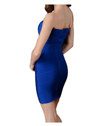 Da donna Whoinshop e spalline criscross per feste bodycon elasticizzato fascia vestito Blue