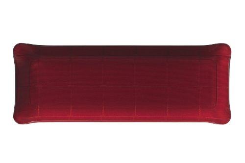 Platex 403914353 Plateau en Acrylique 39 x 14 cm Décor Isis Rouge Acrylique