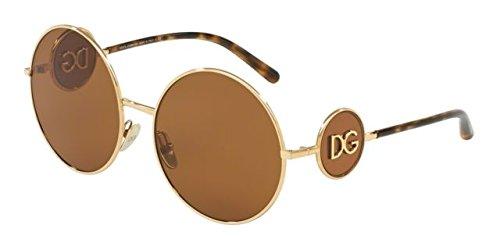 Ray-ban 0dg2205, occhiali da sole donna, oro (gold), 59