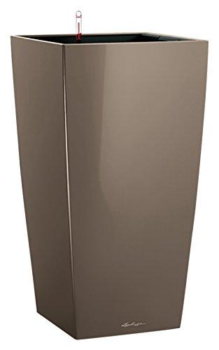 98581499ce9c39 LECHUZA 22 Premium Cubico Pot avec système d arrosage très brillant, Taupe  high-