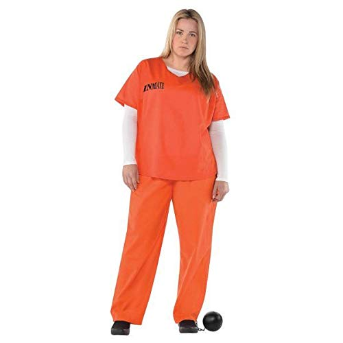 """Orange Inmate"" Häftling Kostüm Damen Gr. -"