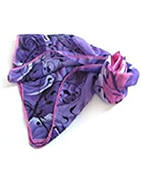 I Purple Georgette - Flower Silk Chiffon Neck Scarves Wrap Shawl Stole Wrap Women fashionable shawl