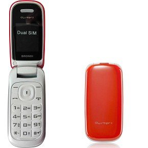 Brondi Oyster S 1.77' RED Feature phone - mobile phones (4.5 cm (1.77'), 128 x 160 pixels, MicroSD (TransFlash), 1.3 MP, Dual SIM, GPRS,GSM) ROSSO