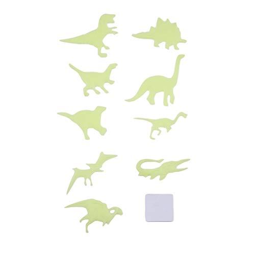9 teile / satz DIY Fluoreszierende Spielzeug Leuchten In Dark Wand Decke Kühlschrank Aufkleber Dinosaurier Tier Muster Kinder Schlafzimmer Dekoration-Gelb