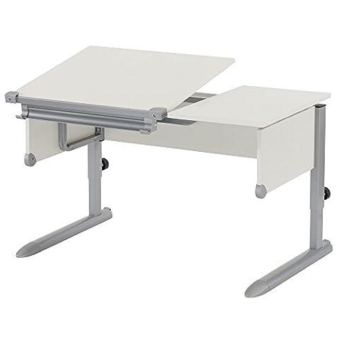 Kettler Schülerschreibtisch Kids Comfort – Farbe: weiß und silber – Schreibtisch hochwertig und flexibel einstellbar – Artikelnummer: