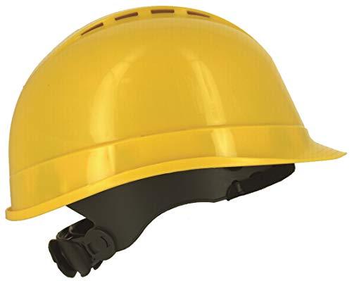 heitshelm, BAU-Hard-Hut, belüftet, 6-Punkt-Gurt, EN 397 & A1 Zertifiziert, gelb ()