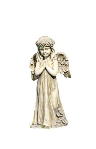 Napco Gartenstatue Kleines Mädchen, betender Engel mit Flügeln (Engel-garten Statue Betender)