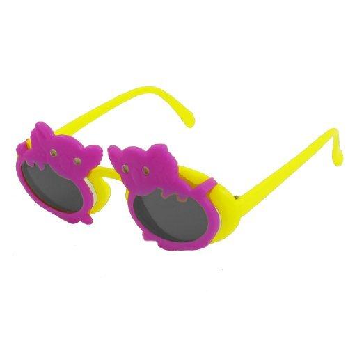 DealMux Koala Design Vollrand Gelb Arme 2 Schichten Kunststoff Sonnenbrillen für Kinder