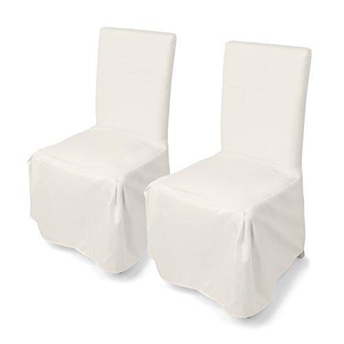 , 2er Set, moderne Stuhl Abdeckung, Husse für verschiedene Stühle, waschbar, Überwurfhusse geeignet für Hochzeiten und Feiern by Floyen Home (Hochzeit Stuhl Abdeckung)