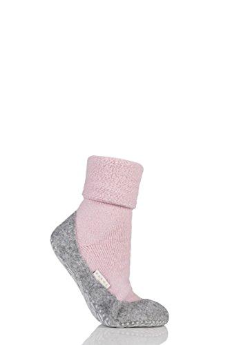 FALKE Damen 1 Paar Cosyshoe Slipper Haus Socken Rosa 4-5 Damen
