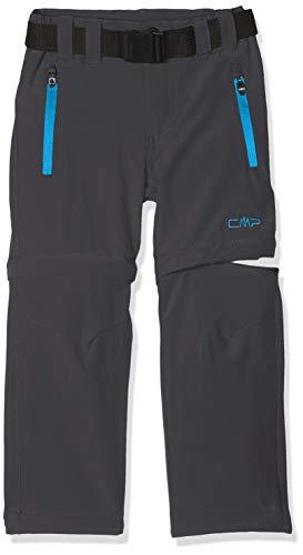 CMP Jungen Zip Off Hose, Grey-Cyano, 140