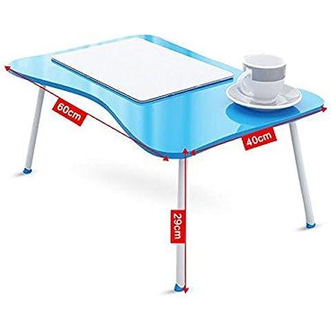 KHSKX Moda portatile tavolo pieghevole, tavolo multifunzione con letti, scrivania impermeabile dormitorio 60 * 40 * 29cm , c