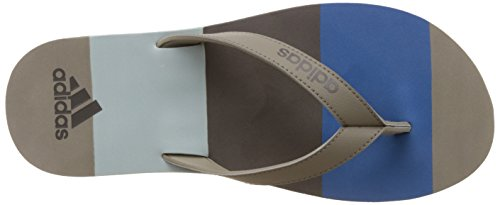 adidas Herren Eezay Striped Zehentrenner, Core Blue/Mystery Blue/Tactile Green Verde ( Cartra/Azubas/Vertac)
