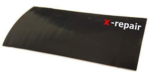 x-repair-patch Selbstklebender Gummi-Aufkleber, Strong Reparaturaufkleber, elastisch, wasserdicht, schwarz, Zelte, Pool, LKW Plane, Wassersport (10 x 10 cm)