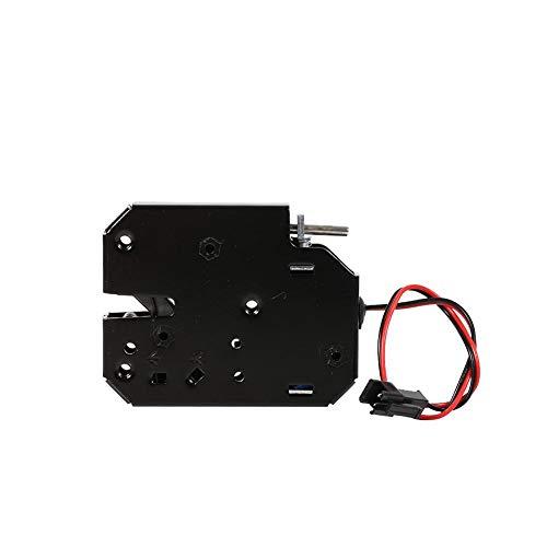 Garosa Elektroschloss Mini 12 V 2A Elektromagnetisch Schublade Schließfächer Intelligente Kohlenstoffstahl Schwarz Latch für Schloss Sicherheitssystem -
