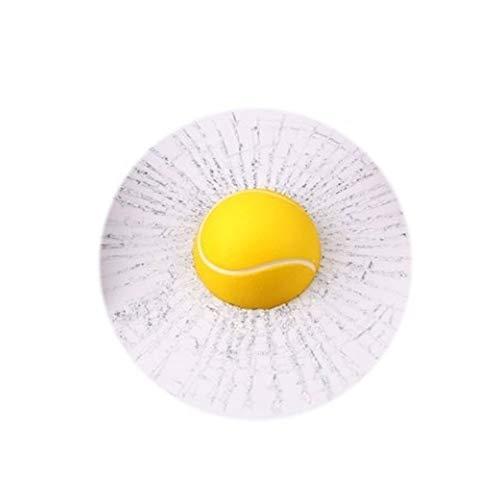 turkeybaby Auto Aufkleber, Lustige 3D Tennisball Basketball Fußball Hit Fenster Riss Auto Aufkleber Dekoration Gelber Tennisball