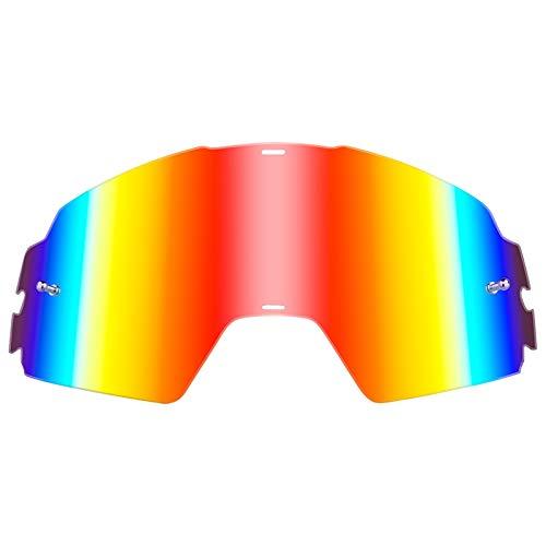 O'Neal Ersatz Scheibe B-20 Goggle Linse Anti Beschlag Polycarbonat MX Kratzfest Brille, 6023-9, Farbe Radium Rot