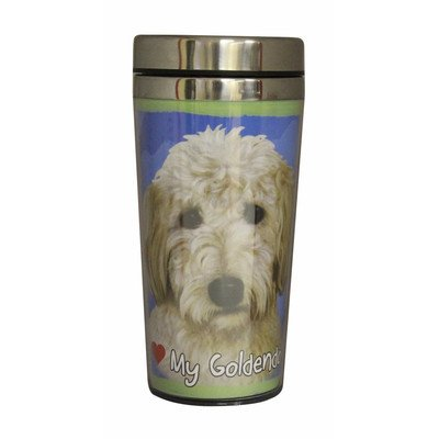 E&S Pets Stainless Steel Golden Doodle Tumbler, 16 oz by E&S Pets