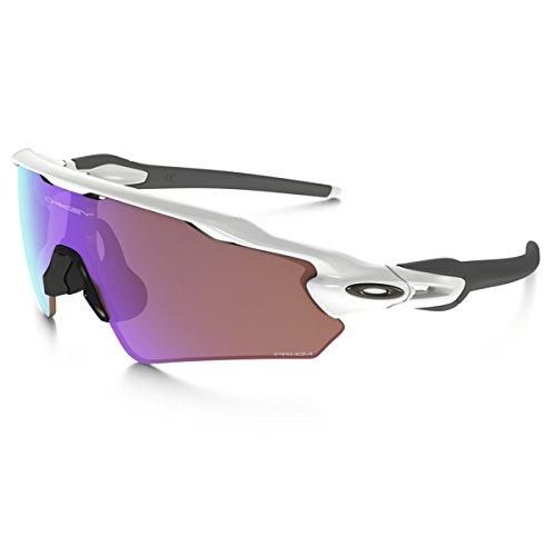 Oakley Men's Radar Ev Path (a) Non-Polarized Iridium Rectangular Sunglasses, Polished White, 35.01 mm