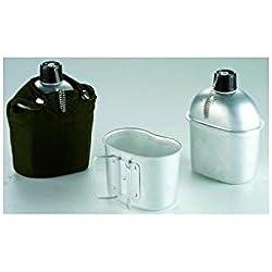 """Ibili 720500 - Cantimplora aluminio con vaso """"Army"""" 1 l"""