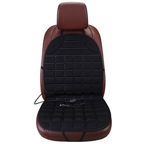 WGE 12v heizte Autositzkissen Universal Winterkissen einzeln warm halten Autositzbezug,Black,1pcs