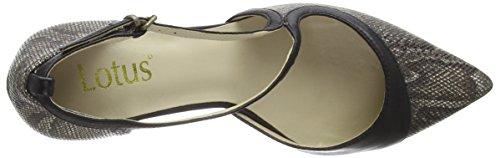 Lotus - Hanako, Scarpe col tacco Donna Marrone (Brown (Brz Print))