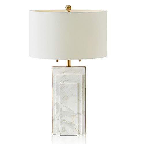 Beige Glasschirm (LYEJFF Natürlicher Marmor Große Tischlampe Beige Glasschirm Schlafzimmer Arbeitszimmer Schreibtischlampe Wohnzimmer Schreibtisch Kaffeetisch Leuchten Nachttisch Dekoratives Nachtlicht-White)