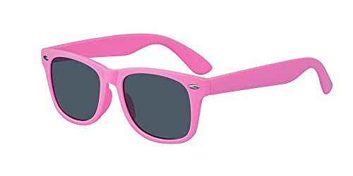 ALWAYSUV Kinder Bequem Polarisierte Sonnenbrillen für Jungen und Mädchen Alter 3-10 Brillenfassung Rosa