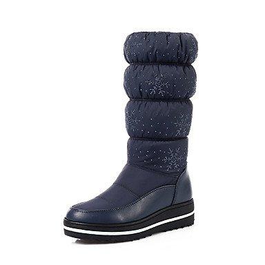 RTRY Scarpe Donna Stivali Comfort Autunno Inverno Chiffon similpelle Abbigliamento Casual Liane Nero Blu 1A-1 3/4In US8 / EU39 / UK6 / CN39
