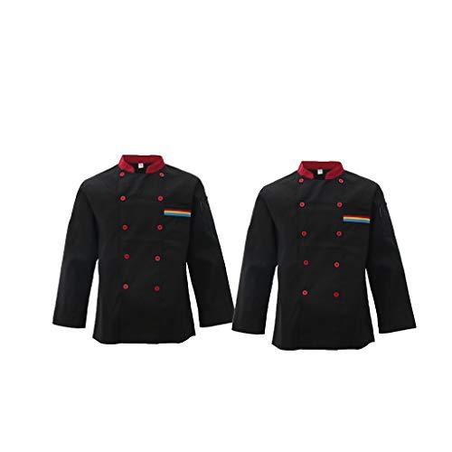 2 Pezzi Giacca Abbigliamenti Cappotto da Chef Uniforme Parti per Albero