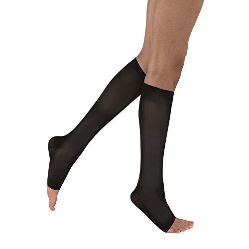 BSN medical 115335Jobst Kompression Schlauch mit offenen Zehen, Knie hoch, klein, 15-20mmHg, Classic schwarz -