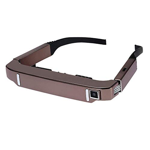 HM2 HD 3D-Kamera Brille, Bluetooth WiFi Portable Video Brille Private Theater, 80 Zoll Breitbild, Kompatibel mit Windowsmobile, Android, Ios - Rose Gold