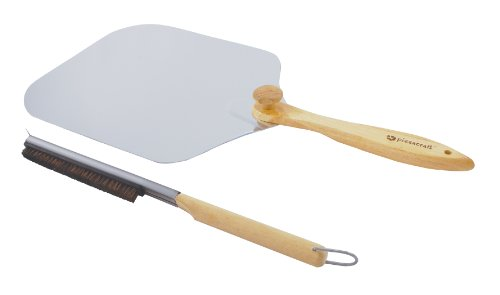 Pizzacraft Pizza Oven Accessories with Stone Brush and Peel