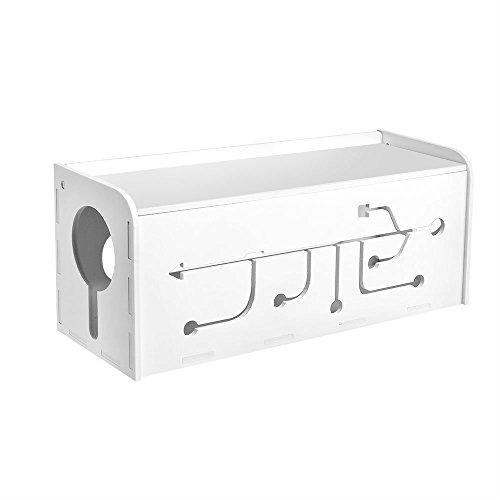 AGPTek Caja para almacenaje de cables eléctricos, Blanco