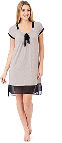 DKNY Damen Nachthemd Gr. Medium, Mdgrystp (Dkny Lingerie)