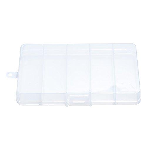 Lan Aufbewahrungsbox, Outdoor Portable Transparent Kunststoff 5 Raster Platz Angeln Zubehör Tackle