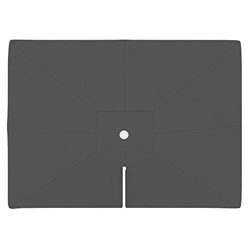PARAMONDO Toile de rechange pour parasol avec Air Vent pour parasol à mât excentré Parapenda (4 x 3m / carrée), gris
