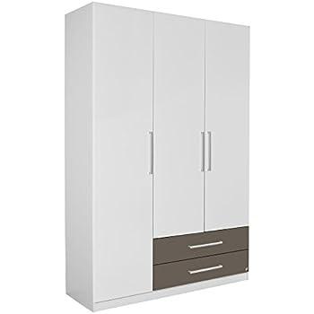 Kleiderschrank weiß hochglanz 3 türig  Rauch Kleiderschrank Weiß Hochglanz 3-türig mit 6 Schubladen ...
