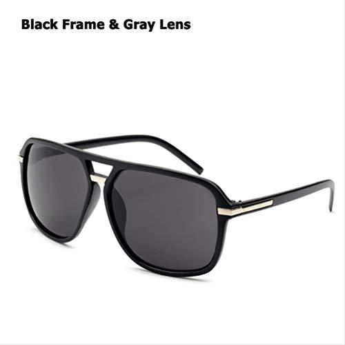 MJDL Mode für Männer Cool Square Style Gradient Sonnenbrille Fahren Vintage Brand Design Günstige Sonnenbrille Oculos De Sol 1155 Schwarz Grau