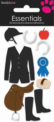 SandyLion Essentials 3D-Sticker de Luxe Reiten Pferdesport