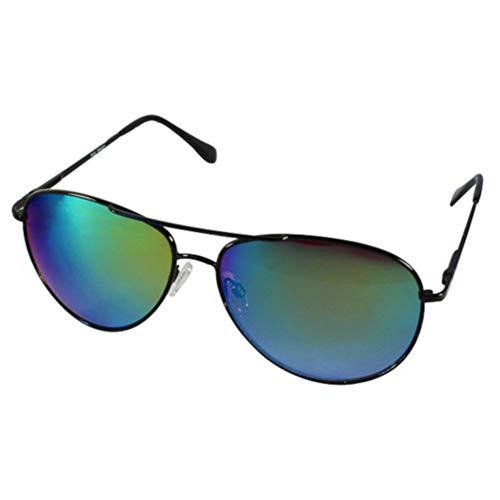 Chic-Net Sonnenbrille Pilotenbrille blau bunt verspiegelt silber Unisex Brille 400 UV Wayfarer...