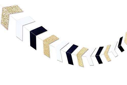 Pfeilbanner Gold-Black-White