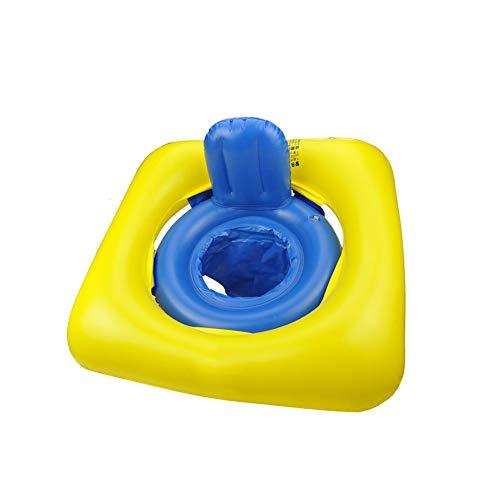 WHL.LL Baby Aufblasbar Schwimmsitz Sicherheit Doppelkammer mit Rückenlehne Schwimmen Float Rollover-Prävention Baby Sitz