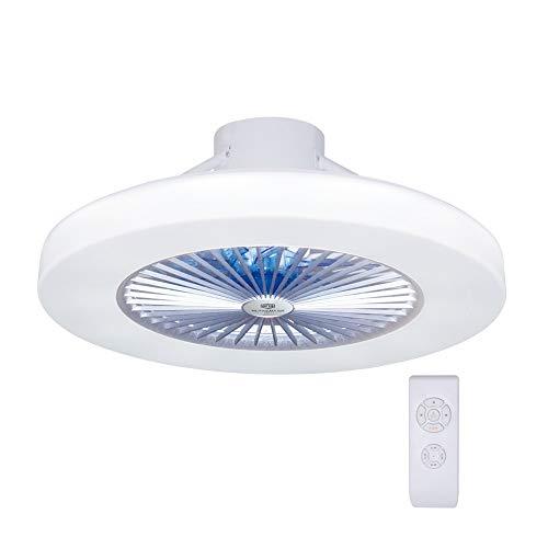 LED Modern Deckenventilator Licht, LED Dimmbar Fan Deckenleuchte moderne Deckenlampe, Deckenventilatoren mit beleuchtung und Fernbedienung, Metall, Innenbeleuchtung/Schlafzimmer/Küche/Wohnzimmerlampe - Licht Deckenventilator Helles