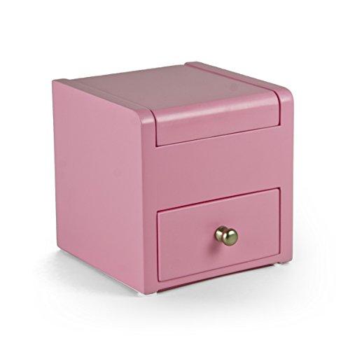 Matt Pink 18Note Ballerina Musical Jewelry Box mit Ziehen Schublade–Einfache Song-Auswahl 359. Star Spangled Banner (Star Schublade Ziehen)
