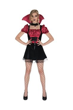 Sexy Vampir Dame Frau Dracula Damen Kostüm (Draculas Frau Kostüm)