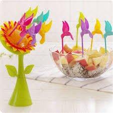 Abtrix Birdie Fruit Fork Bird Shape Stick Tree Shape Holder Tableware Food Grade