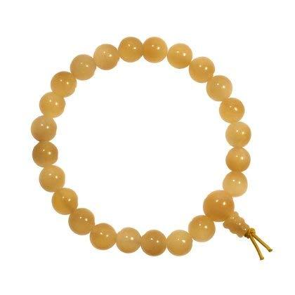 Braccialetto energetico di perline in calcite, colore arancione